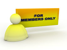 Members only Royalty Free Stock Images