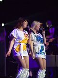 Members of the ABBA The Show  performs. BUDAPEST-FEBRUARY 13: Members of the ABBA The Show  performs on Royalty Free Stock Images