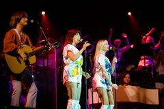 Members of the ABBA The Show  performs Royalty Free Stock Photography