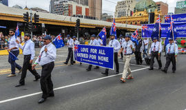 Members of Ahmadiyya Muslim association. In a parade for Australia day in Melbourne on 26/01/2017 Royalty Free Stock Images