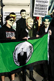 Members of Anonymous hold rally Stock Photo