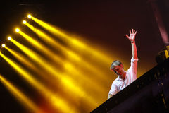 Members of ARMIN ONLY: Intense show with Armin van Buuren in Minsk-Arena on February 21, 2014 Stock Image