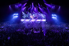Members of ARMIN ONLY: Intense show with Armin van Buuren in Minsk-Arena on February 21, 2014 Royalty Free Stock Images