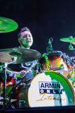 Members of ARMIN ONLY: Intense show with Armin van Buuren in Minsk-Arena on February 21, 2014 Royalty Free Stock Photos