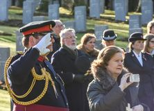 Remembrance Day Service, Cannock Chase. Members of the BGA and general public join for a moving service for the Remembrance Day Reconciliation service, 12th Stock Image