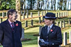 Remembrance Day Service, Cannock Chase. Members of the BGA and general public join for a moving service for the Remembrance Day Reconciliation service, 12th Royalty Free Stock Photography