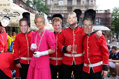 Members of The British Royal Family and Queen Royalty Free Stock Photography
