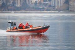 Members of the Canada Coast Guard Royalty Free Stock Photos