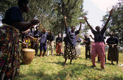 Members of Community Reproductive Health Workers, Uganda royalty free stock photography