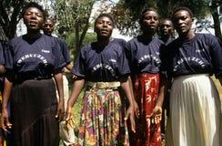 Members of Community Reproductive Health Workers, Uganda royalty free stock photo