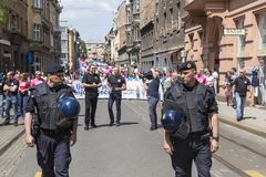 Anti riots police in Croatia Stock Photography