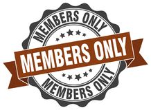 Members only stamp Royalty Free Stock Photos