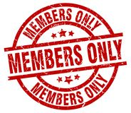 Members only stamp Stock Image