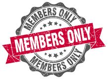 Members only stamp Stock Photo