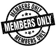 Members only stamp. Members only grunge stamp on white background Royalty Free Stock Photos