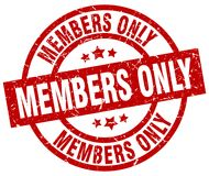 Members only stamp. Members only grunge stamp on white background Royalty Free Stock Images