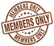 Members only stamp. Members only grunge stamp on white background Stock Photo