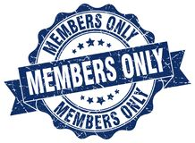 Members only stamp. Members only grunge stamp on white background Royalty Free Stock Photo