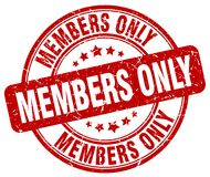 Members only stamp. Members only grunge stamp on white background Stock Images