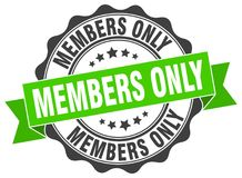 Members only stamp. Members only grunge stamp on white background Royalty Free Stock Photography