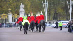 Members of the Household Cavalry on duty stock video