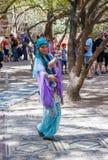 Members Knights of Jerusalem dressed as a dancer is dancing oriental dance Stock Images