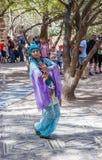 Members Knights of Jerusalem dressed as a dancer is dancing oriental dance Royalty Free Stock Photo
