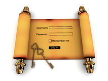 Members login in the rollout Royalty Free Stock Image