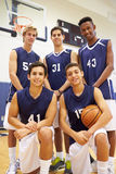 Members Of Male High School Basketball Team Stock Photos