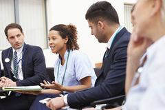 Members Of Medical Staff In Meeting Together Royalty Free Stock Photography