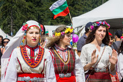Members of the National Folk Festival Rozhen in Bulgaria Royalty Free Stock Photos