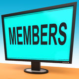 Members Online Shows Membership Registration Stock Image