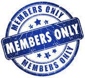 Members Only Stock Images
