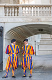 Members of the Pontifical Swiss Guard Stock Photos