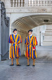 Members of the Pontifical Swiss Guard Royalty Free Stock Photos