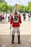 Members of the Queen's Horse Guard on duty. Royalty Free Stock Photography
