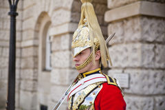 Members of the Queen's Horse Guard on duty. Royalty Free Stock Photos