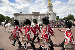 Members of the Queen's Horse Guard on duty. Stock Photos