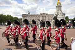 Members of the Queen's Horse Guard on duty. Stock Photography
