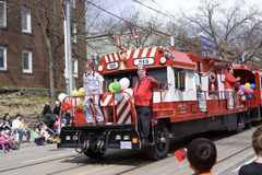 Members of Rameses Shriners on float at the Beaches Easter Parade 2017 on Queen Street East Toronto Stock Photography
