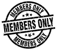 Members only stamp Stock Photos