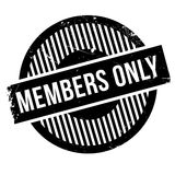 Members only rubber stamp Stock Image