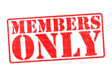 MEMBERS ONLY Rubber Stamp Royalty Free Stock Photos
