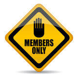 Members only sign. On white background Royalty Free Stock Image