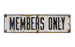 Members Only Sign Royalty Free Stock Photo