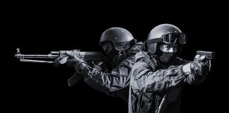 Members of the special forces division. royalty free stock image