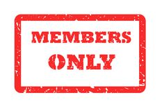 Members Only Stamp. Red used members only stamp, isolated on white background Stock Images