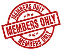 Members only stamp. Members only grunge stamp on white background Stock Photos