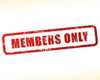 Members only stamp. Illustration of members only stamp on white background Royalty Free Stock Photo