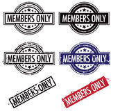 Members Only Stamp. A members only Rubber stamp set Royalty Free Stock Photo
